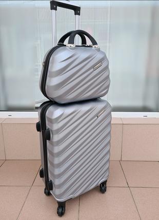 Дорожный чемодан+ бьютик madisson jakarta 3 02002 paris silver