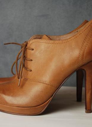 Евро 38 шикарные стильные ботильоны туфли полуботинки 5th avenue! натуральная кожа!