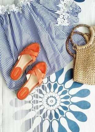 Оранжевые сандалии сандали босоножки эспадрильи с пряжками 36 размер