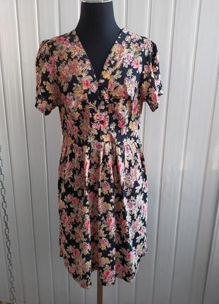 Платье в мелкий цветок розы вискоза м, bik bok