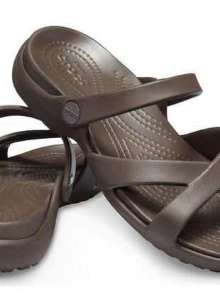Босоножки шлепанцы вьетнамки флипфлопы женские кроксы  оригинал crocs