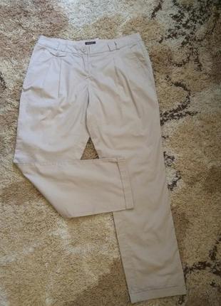 Стильные бежевые брюки с подворотом promod pp l(44)