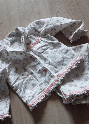 Спальный костюм ,пижама в котиках,р.1,5-2года