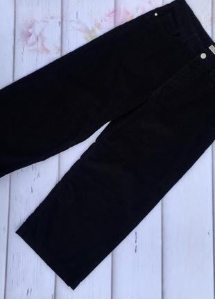 Вельветовые кюлоты,укороченные широкие брюки denim co