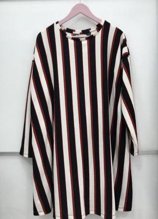 Платье свободный крой zara в полоску