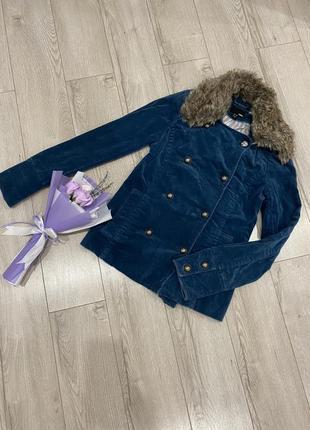 Винтажный двубортный пиджак жакет пальто 🌷h&m