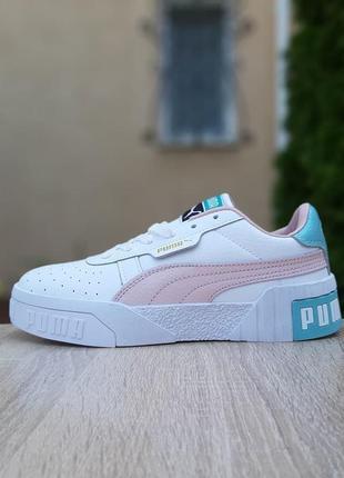 Женские кроссовки puma cali белые / жіночі кросівки пума білі