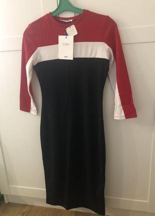 Платье плаття zara трикотаж