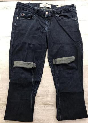 Темно синие джинсы скинни hollister