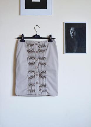 Строгая юбка monton с драпировкой