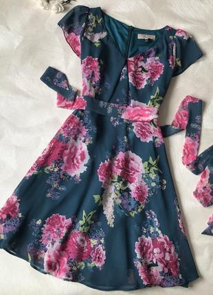 Платье в цветочек dorothy perkins шифоновое