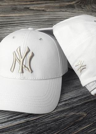 Кепка бейсболка нью йорк белая