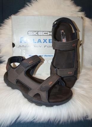 Лёгкие сандалии босоножки skechers louden 11us 45 размер доставка