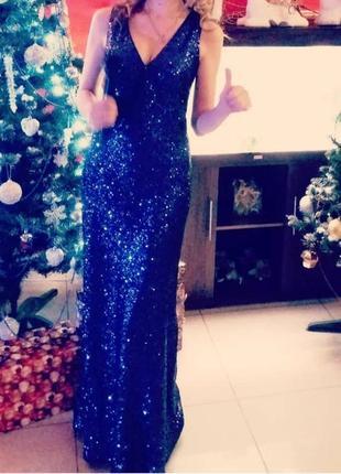 Платье выпускное свадебное вечернее пайетки блестящее шикарна вечірня сукня
