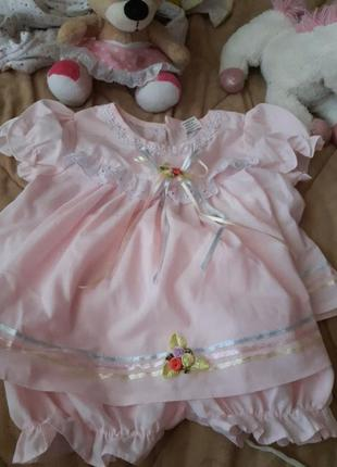 Платье 6-9мес