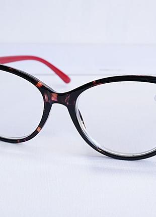 Очки женские для зрения 19406, с диоптриями, корригирующие с белой линзой +3,25