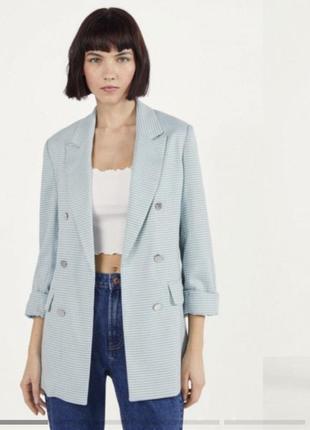 Базовый пиджак жакет гусиная лапка)💙 bershka
