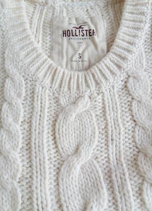 Свитер теплый базовый зимняя кофта hollister