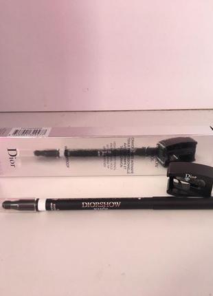 Водостойкий карнадаш для макияжа глаз dior show khol white 009