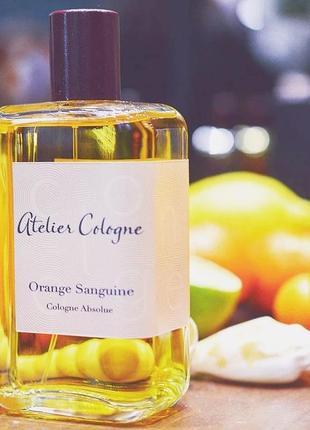 Atelier cologne orange sanguine оригинал_cologne 7 мл затест