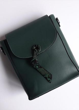 Сумка під рюкзак 2 в 1 мятного кольору ll