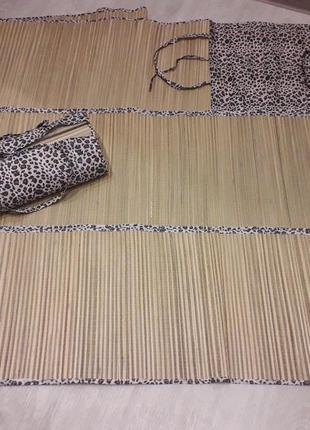 Пляжная подстилка, коврик солома.
