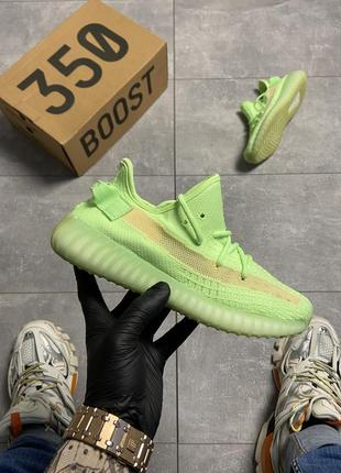 Шикарные кроссовки adidas yeezy v2 350 glow in dark1 фото