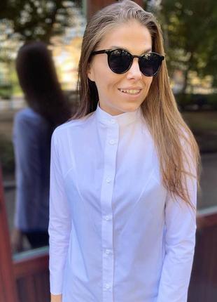 Рубашка белая воротник стойка