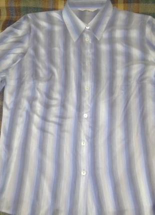 Шелковая блуза-рубашка sturzenegger signature