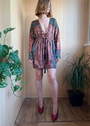 Шелковое платье туника