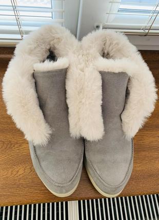 Лоферы / ботинки натуральные на меху