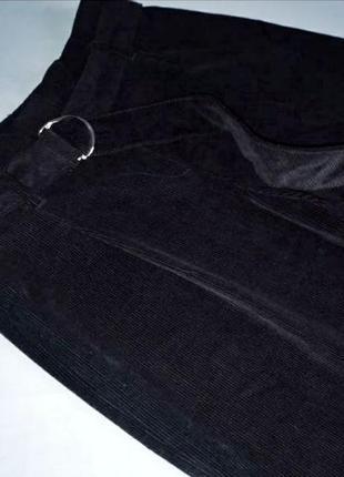 Трендовые широкие вельветовые штаны брюки с защипами