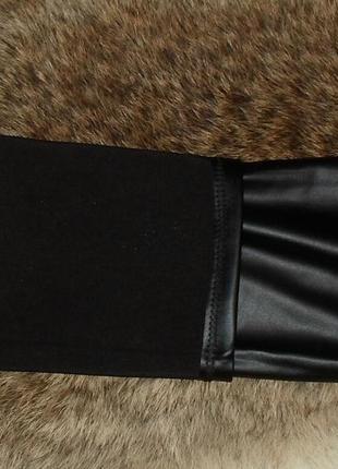 Леггинсы ,лосины черные эко-кожа ,весна2 фото