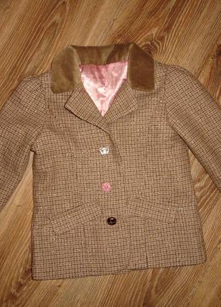 Стильный пиджак на девочку 2-3 года от matalan