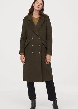 Стильное пальто h&m длины миди