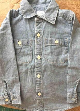 Джинсовая рубашка carter's