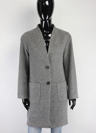 Фирменное шерстяное пальто в стиле maje cos massimo dutti