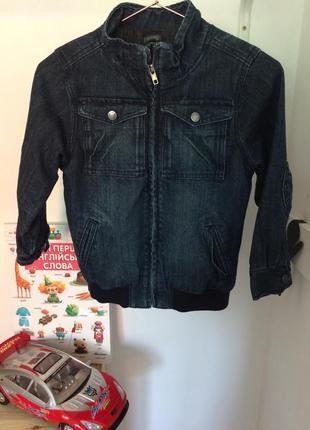Куртка бомбер джинсовая cotton on kids