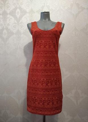 Платье сарафан с этно узорами