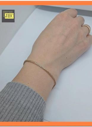 Золотой нежный женский браслетик. золото 585 пр.