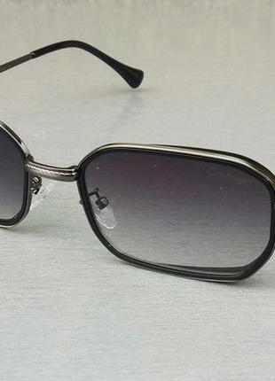 Cartier стильные солнцезащитные очки унисекс черные с градиентом узкие