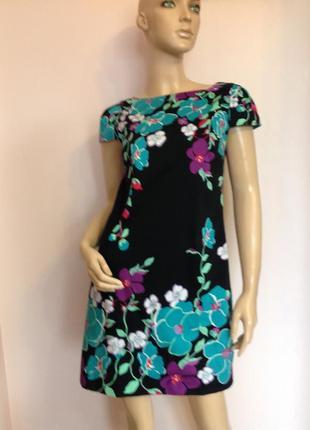 Платье- купонное в цветы /s/ brend oasis