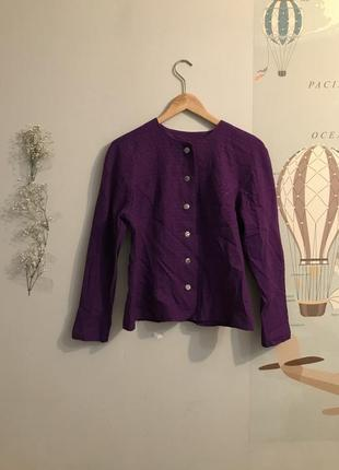 Винтажный льняной пиджак в стиле chanel