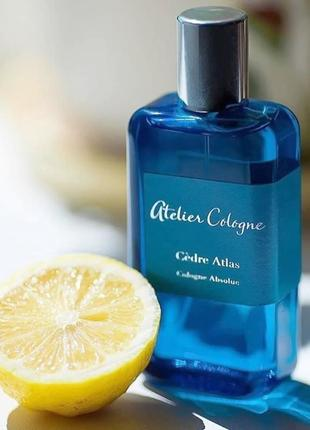Atelier cologne cedre atlas оригинал_cologne 3 мл затест
