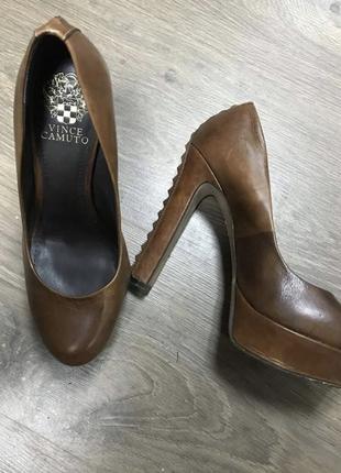Кожаные туфли vince camuto