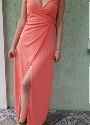 Платье миди на запах asos p.s/xs