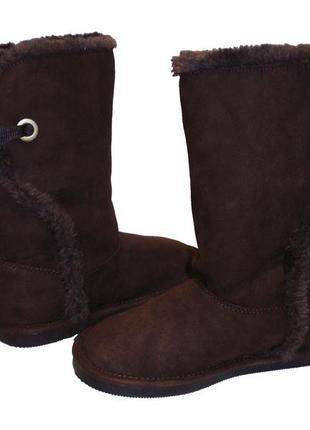 Распродажа сапоги на меху женские сапожки теплые бренд lands end р.36