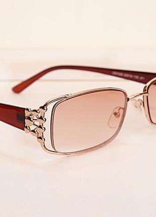 Очки женские для зрения, с диоптриями, корригирующие с тонированной линзой +3.0,+4