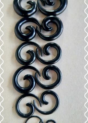 Акриловые серьги улитки, растяжки комплект 6шт