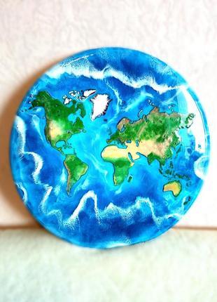 """Эксклюзивная """"карта мира"""" в стиле лофт, ручная работа"""